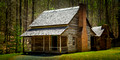 A Home from the past in Cades Cove, Great Smoky Mountains Log Cabin